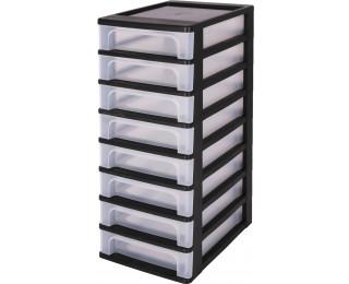 tour de rangement 8 tiroirs transparent. Black Bedroom Furniture Sets. Home Design Ideas