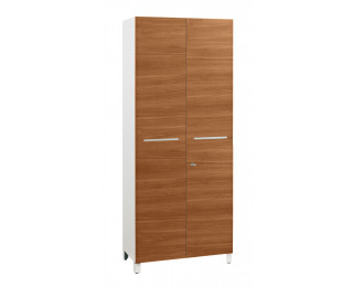armoire 2 portes finition noyer sunday largeur 80 cm. Black Bedroom Furniture Sets. Home Design Ideas