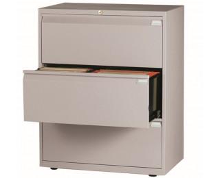Cr dence 3 tiroirs ds light largeur 80 cm gris for Bureau 80 cm de largeur