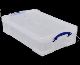 boite plastique really useful 33l transparent bleu. Black Bedroom Furniture Sets. Home Design Ideas