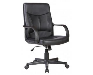 fauteuil de bureau opty cro te de cuir noir. Black Bedroom Furniture Sets. Home Design Ideas