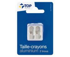 Taille-crayon métal - TOP OFFICE - 2 trous - Sans réservoir