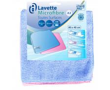 2 lavettes microfibres surfaces - AZURDI