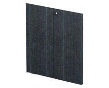 Jeu de porte bois noir étagère basse FLORA, largeur : 80 cm