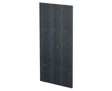 Jeu de porte bois noir étagère haute FLORA, largeur : 80 cm
