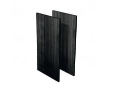 Jeu de joues de finition bois noir étagère basse FLORA, largeur : 43 cm