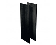 Jeu de joues de finition bois noir étagère mi-haute FLORA, largeur : 43 cm