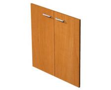 Jeu de portes étagère basse noire avec serrure ELEA, largeur : 80 cm