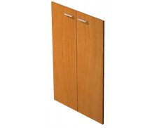 Jeu de portes étagère mi-haute blanc ELEA, largeur : 80 cm