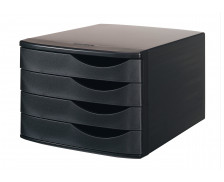 Bloc de Classement  - 4 tiroirs - Noir