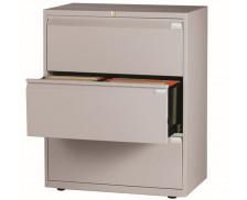 Crédence 3 tiroirs DS light - Largeur 80 cm - Gris