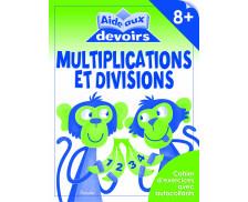 Livre d'aide aux devoirs : Divisions/Multiplications -  8 ans et plus
