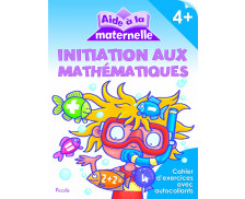 Livre d'aide à la maternelle : initiation aux Mathématiques - 4 ans et plus
