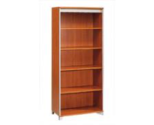 Bibliothèque largeur 80 cm - MAMBO - Finition Poirier / Gris