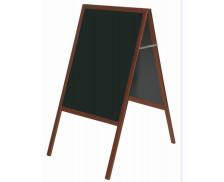 Chevalet ardoise double face - BI OFFICE - 120x60 cm - Noir