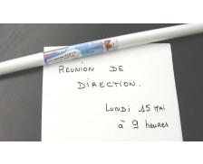 Tableau blanc effaçable - APLI AGIPA - 0.5 x 0.45 m