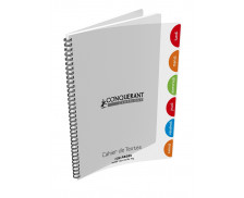 Cahier de texte - CONQUERANT - 124 pages - 17x22 cm - Grands carreaux