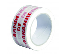 """Rouleau adhésif """"Bande de garantie"""" - SIGN - 66m x 50mm - Blanc et rouge"""