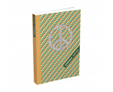 Agenda scolaire journalier Color block - HAMELIN - 12x17 cm - Peace and love