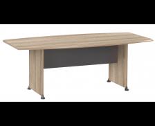 Table de réunion tonneau - JAZZ - L 204 cm - Finition chêne/anthracite