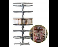Colonne rotative solidaire - 2 étages - Dossiers suspendus - Gris foncé
