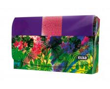Porte cartes Miss Jungle - ELBA - 90x55 mm - Violet/Rose
