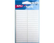 238 Etiquettes - AGIPA - 35x5mm - Blanc