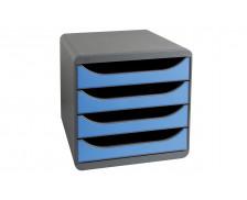 Bloc de classement big box - EXACOMPTA - Noir/Bleu