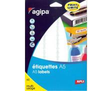 320 Etiquettes - AGIPA - 48.5x25mm - Blanc