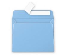 20 Enveloppes 90x140 Pollen - bleu lavande 120g adhéclair - CLAIREFONTAINE