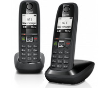 Téléphone sans fil Gigaset AS405 Duo - SIEMENS - Noir