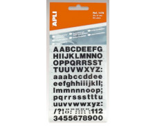 2 Feuilles Lettres transfert - APLI - 6mm - Noir