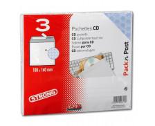 Lot de 3 pochettes bulles CD