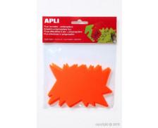 10 éclatés fluo polypropylène - 8x12 cm - Orange
