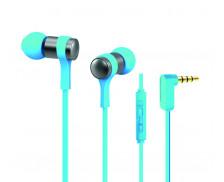 Écouteurs intra-auriculaires - APM - Microphone integré - Bleu clair