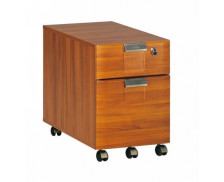 Caisson 2 tiroirs SANTOS, largeur : 42 cm - Finition palissandre