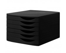 Bloc de classement - JALEMA - 6 tiroirs - Noir/noir