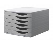 Bloc de classement - JALEMA - 6 tiroirs - Gris/gris