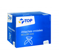 50 attaches croisées - TOP OFFICE - 50 x 60 mm