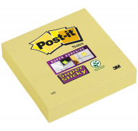 Bloc post-it Super sticky - POST IT - 76 x 76 mm - Jaune