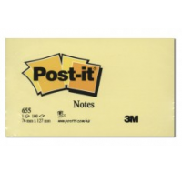 Bloc post-it Super sticky - POST IT - 76 x 127 mm - Jaune pastel