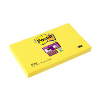 Bloc post-it Super sticky - POST IT - 127 x 76 mm - Jaune joncquille