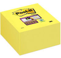 Bloc cube 350 feuilles Supersticky - POST IT - Jaune jonquille
