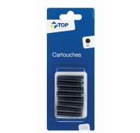 Lot de 24 cartouches courtes - TOP OFFICE - Noir