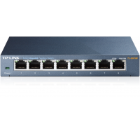 Boîtier de bureau Switch - TPLINK - 8 ports Ethernet - Metal