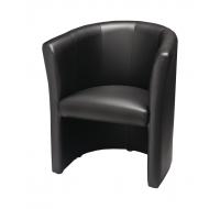 Fauteuil - CLUB - Noir PVC