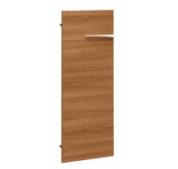 Porte pleine basse pour bibliothèque - XENON - L44 cm - Finition merisier/blanc