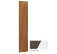 Côté de finition pour bibliothèques - XENON - L3 cm - Finition chêne/blanc