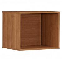 Cube intégrable pour bibliothèque - XENON - L42 cm - Finition merisier/blanc