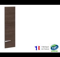 Porte pleine haute pour bibliothèque - XENON - L33 cm - Finition chêne/blanc